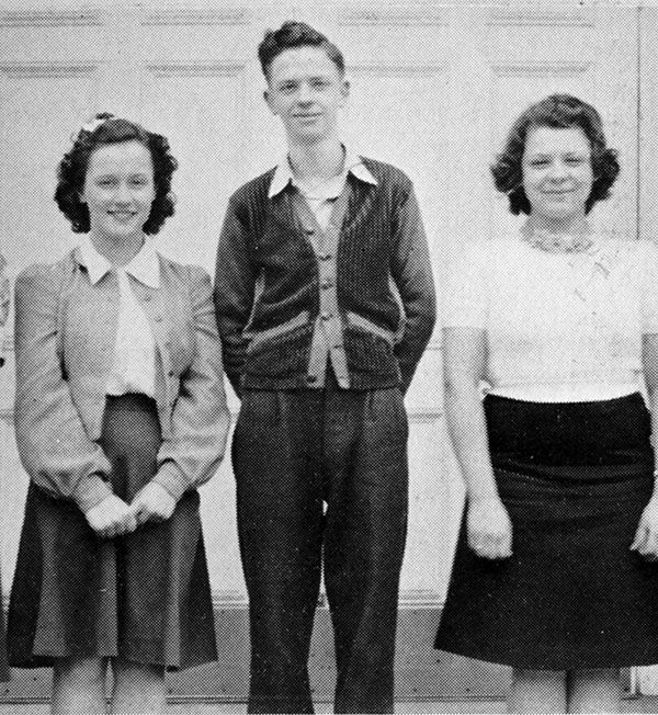 Don Knotts long before Mayberry as the President of his sophomore class at Morgantown High School in Morgantown WV 1940.