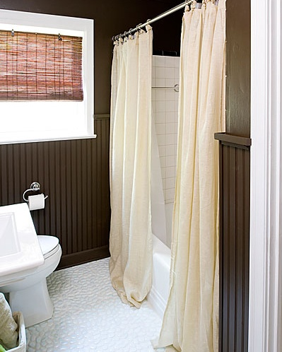 How to install beadboard over existing tile. I need this in both of my bathrooms!