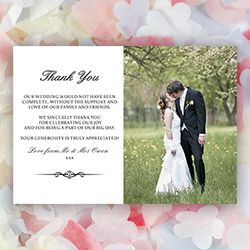 Love Range Simple And Natural Design And Black Formal Combination With Garden Creations Unique Classic Thank You Cards After Wedding