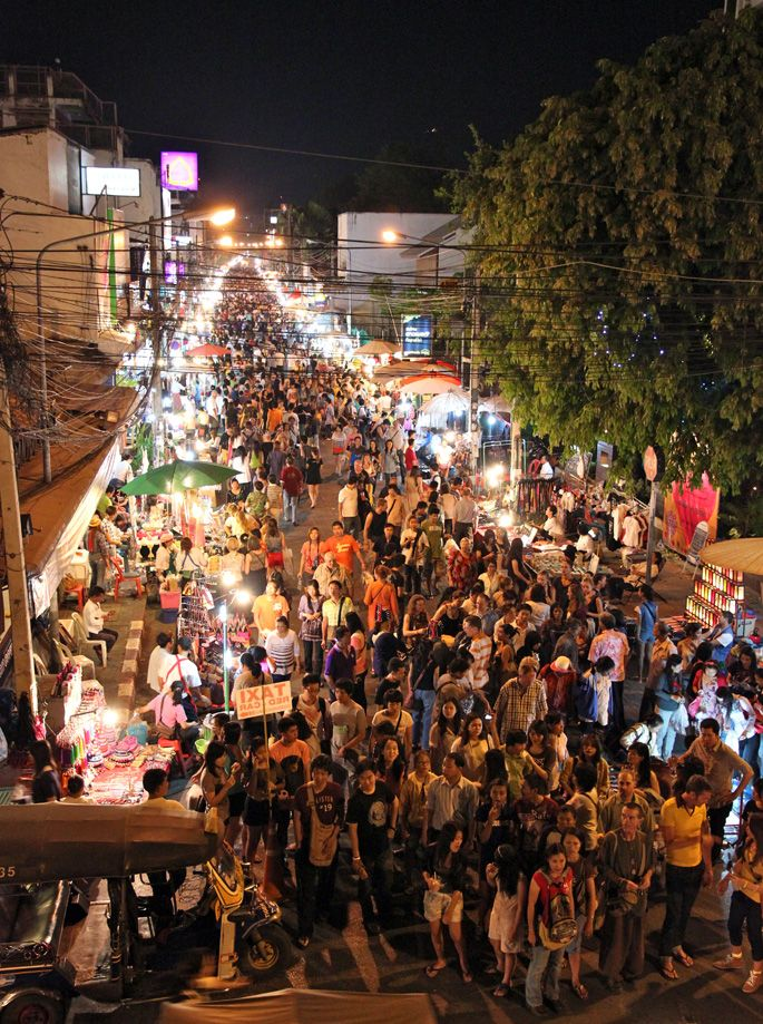 Chiang Mai's famous night market, a must on any trip to the city!