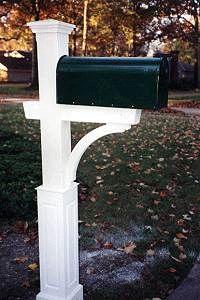 Wooden Cedar Mailbox Post  budgetmailboxes.com