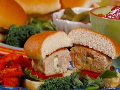 Blue Cheese-Stuffed Turkey Burgers