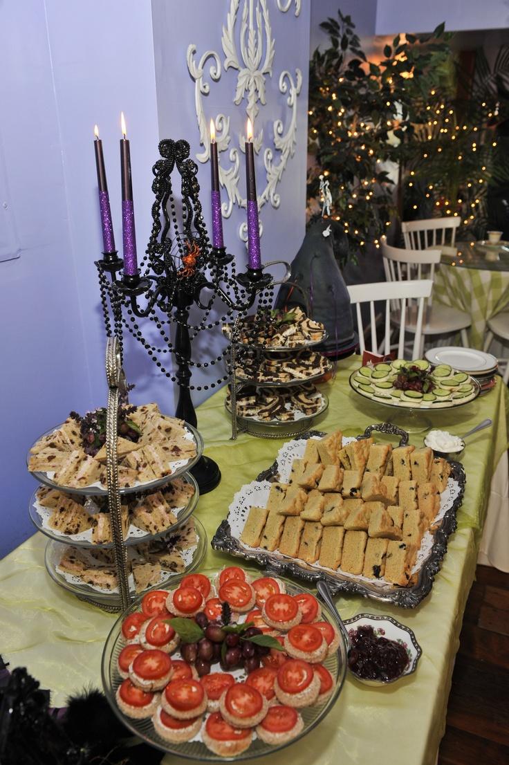 The halloween theme tea party spread | A Halloween Tea ...