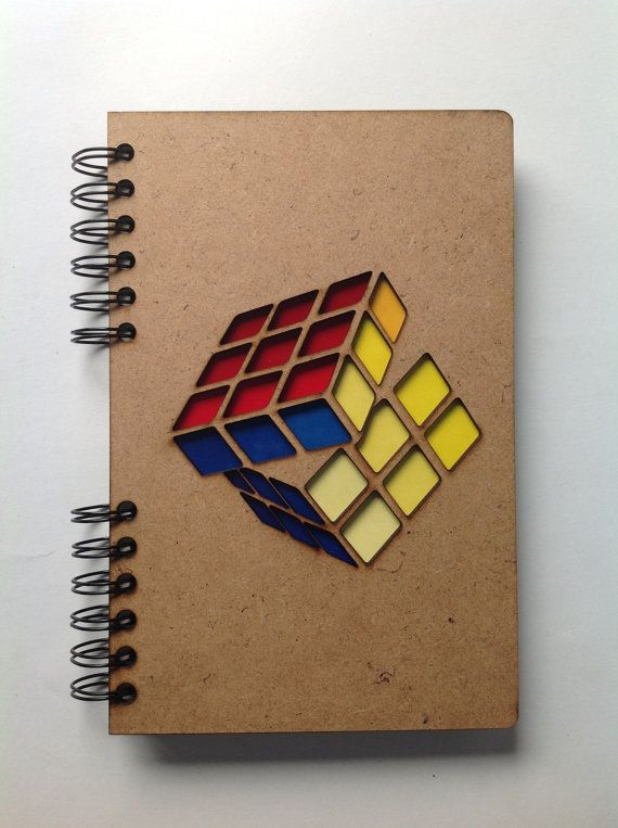 A5 recycled notebook Rubik Cube. by ADRGB on Etsy