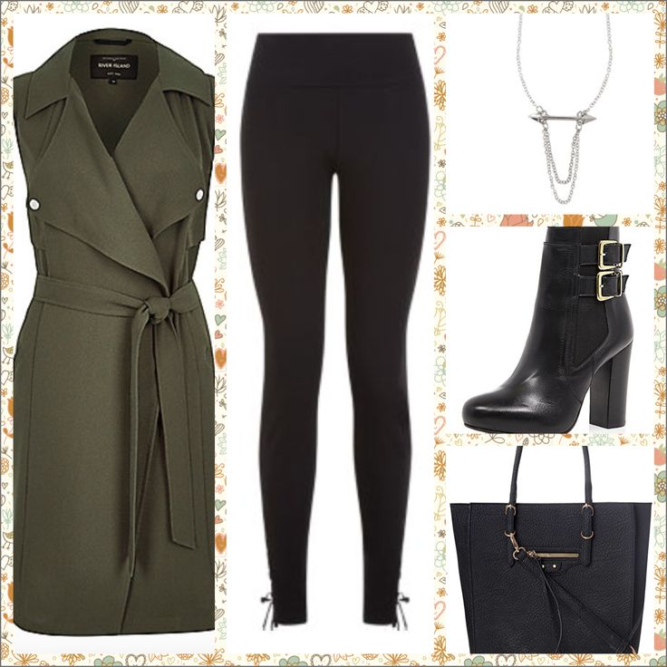 AW15 Inspiration   Jacket - River Island Shoes - River Island Leggings - New Look Necklace - New Look Bag - Topshop