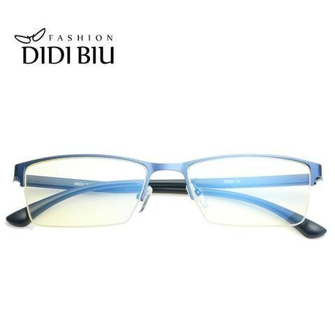 f5bd42d0c7 DIDI 2018 Eyeglasses Half Business Men Computer Anti Blue Glasses Frames  Malemodlilj