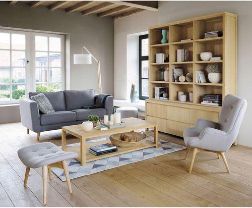 Déco du salon : mobilier industriel et scandinave
