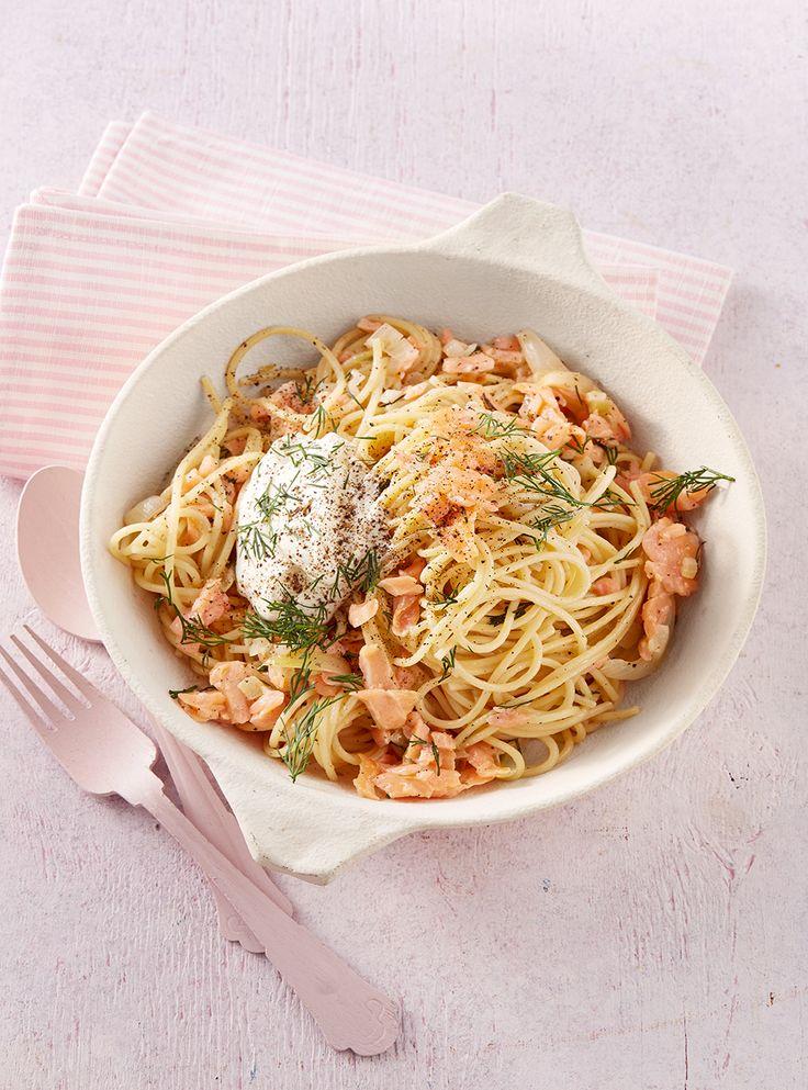15-Minuten-Lachsspaghetti