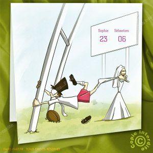 Faire-part de mariage pop-up rugby - ML13-079