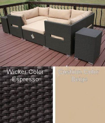 Madand All Weather Resin Wicker Patio Furniture Day Bed . $2600.00. aluminum frame. sunbrella cushions. All weather PE resin wicker. Madand All Weather Resin Wicker Patio Furniture Day Bed / Sectional  Modern lines define this day bed / sectional. The 'U' shape offers more than just seating when the oversized ottoman is placed inside the set; creating an oversized lounge for multiple people. The Koyto collection will be the center for any outside gathering for yea...