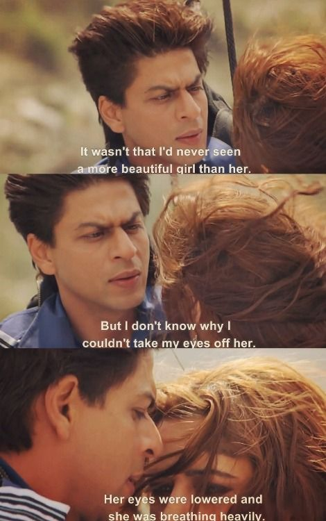 Love at first sight only happens in movies especially Bollywood.