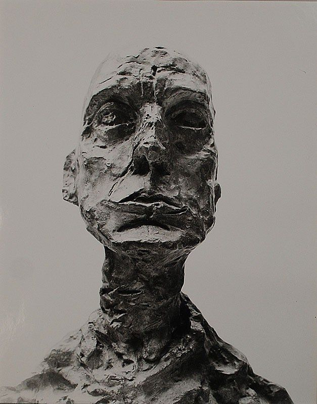 Sculpture d'Alberto Giacometti - head of a man / tête d'homme #sculpture #art #giacometti Mais