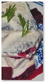 Matjes Herring Salad in Yogurt Sauce