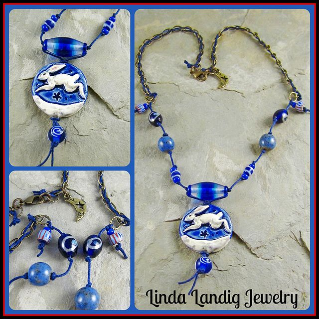 Handmade Hare necklace by Linda Landig Jewelry