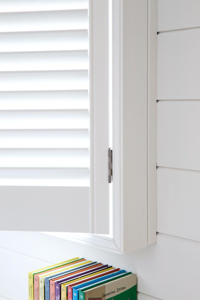 Shutters copahome wit / blanc / white detail