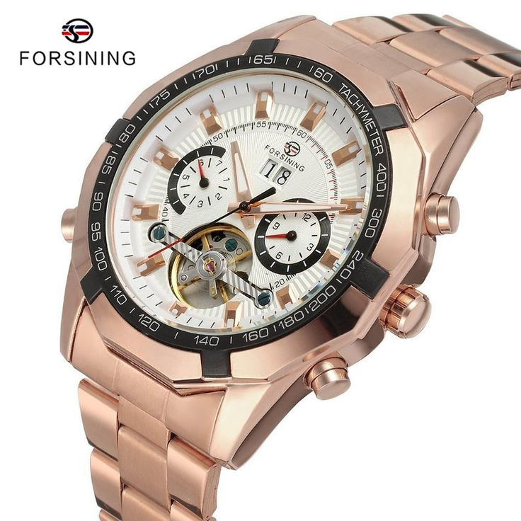 Find More Mechanical Watches Information about 6 Colors FORSINING Brand Top Luxury Mens Gold Stainless Steel Watches Relogio Masculinos Relojes Men Automatic Mechanical Watch,High Quality wristwatch led,China watch crystal Suppliers, Cheap watch kittens from YIKOO Watches Store on Aliexpress.com
