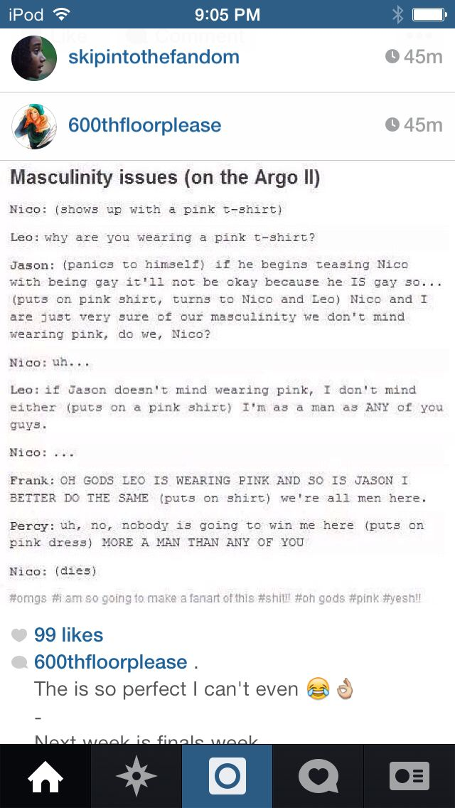 I can SO see something like this happening, except, well, except for the part about Nico wearing pink.