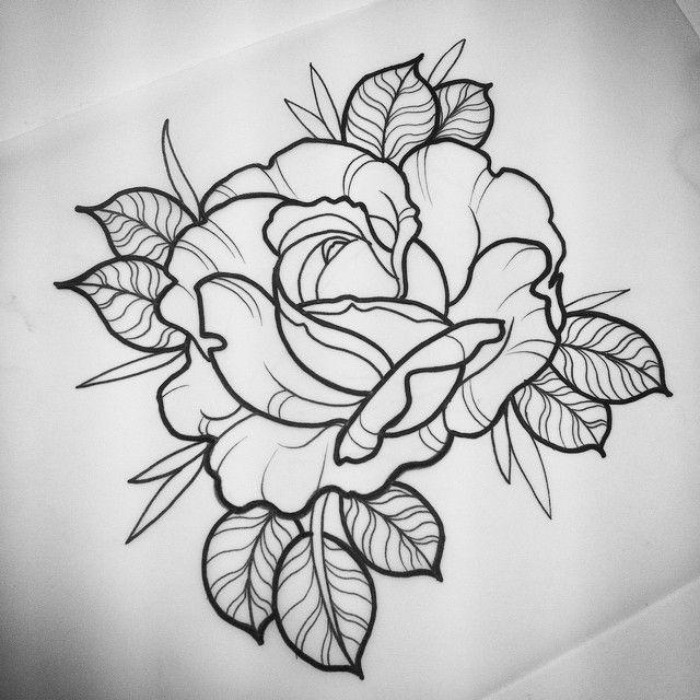 Via Instagram: karakastanada@gmail.com if ya fancy it. Colour or black and grey. #tattoo #tattooapprentice #drawing #art #fhtbathgate #rose #rosetattoo #neotrad #neotraditional