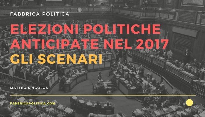 Elezioni anticipate : gli scenari per le elezioni politiche nel 2017