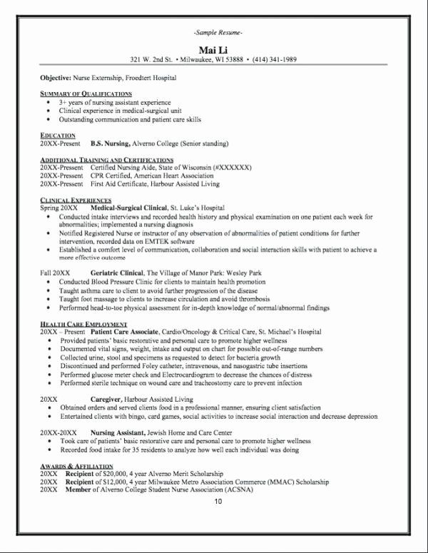 76 New Photos Of Sample Resume for Cna Instructor Resume templates