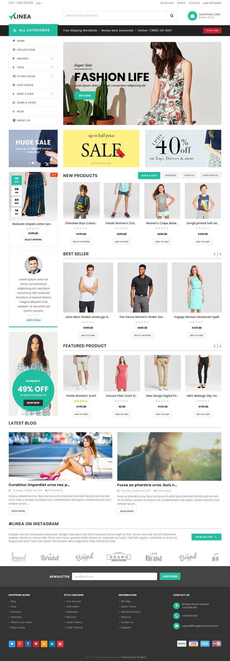 Linea - Clothing Store Shopify Theme (Sections Drag & Drop Ready) #Clothing store website #Clothing store website shopify #clothing templates • Download ➝ https://themeforest.net/item/linea-clothing-store-shopify-theme-sections-drag-drop-ready/20804896?ref=rabosch