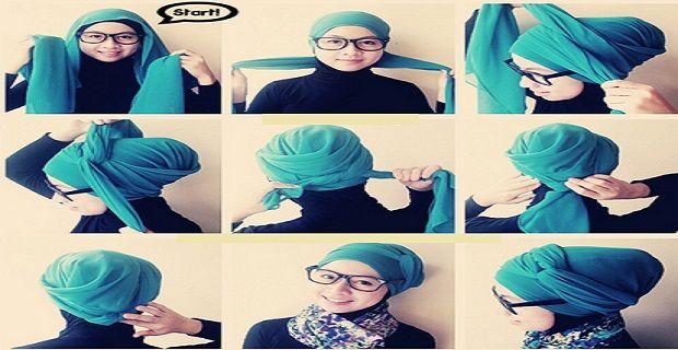 Hijab Segi Empat untuk Pesta