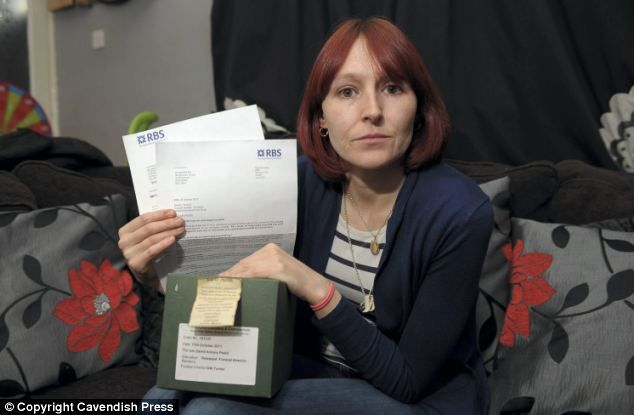 Grieving daughter took her father's ashes into bank to prove he was dead and settle £6 charge