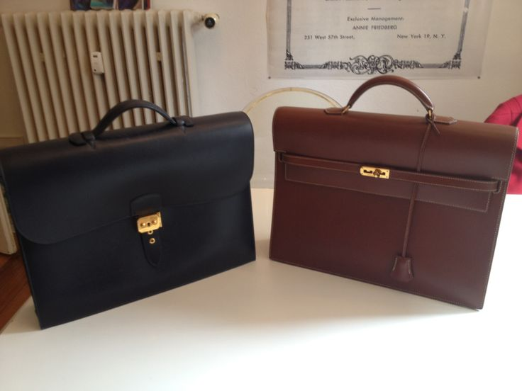 My two Hermes briefcases.. the Sac a depeches and the Kelly a depeches...can tell which one I like more...