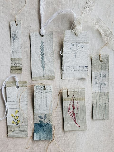 Pretty little labels to make from scraps, or buy from The Linen Garden.