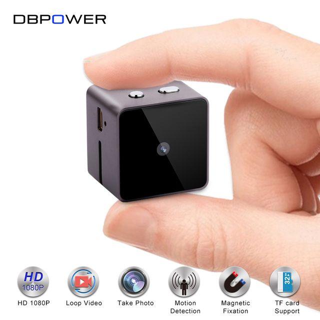 Dbpower FHD 1080 P / 15FPS mini Kamera pre video kamery Kamery s videokamerou Mirko s detektorom pohybu Kamera DVR Kamera s detektorom pohybu USB / AV výstup TF slot