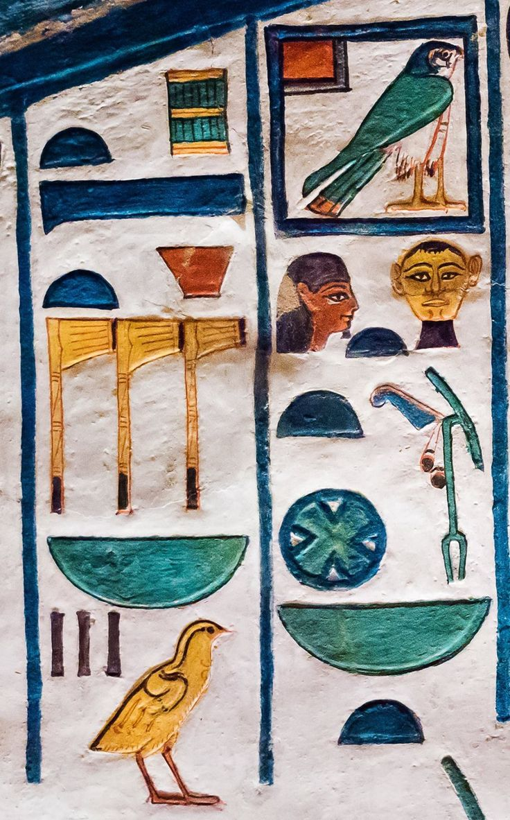 "Hieroglyphs from the ""House of Eternity"" of Queen Nefertari, QV66, west 'Uaset'-Thebes: Ḥ(w)t-Ḥr(w) ḥryt-tp W3st nbt pt ḥnwt Nṯrw nbw whose meaning is ""Hathor the chieftainess of 'Uaset'-Thebes, the..."