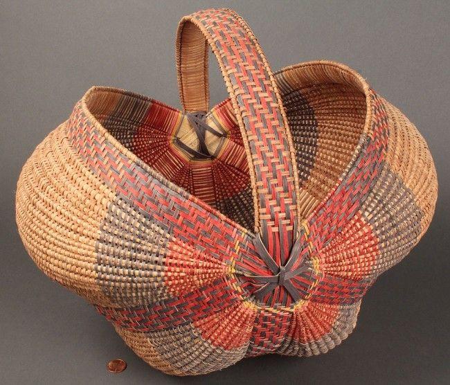 Trevle Wood   Quadruple Ribbed Basket. late 20th century