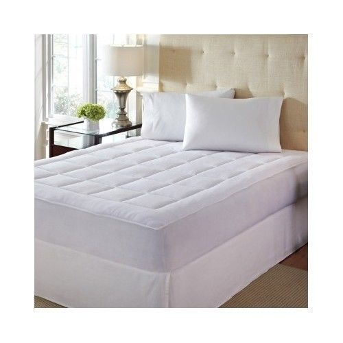 Mattress Pad Cover Soft Quilted Plush Fitted Bed Thick
