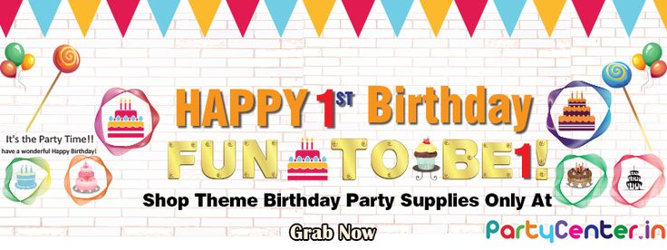 Buy 1st Theme Birthday Party Supplies Only at Partycenter.in