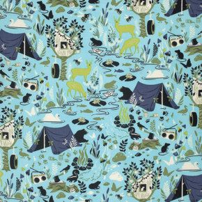 Moon Shine by Tula Pink - Forest Frivolity Sky PWTP054 - 1/2 yard cotton quilt fabric 315