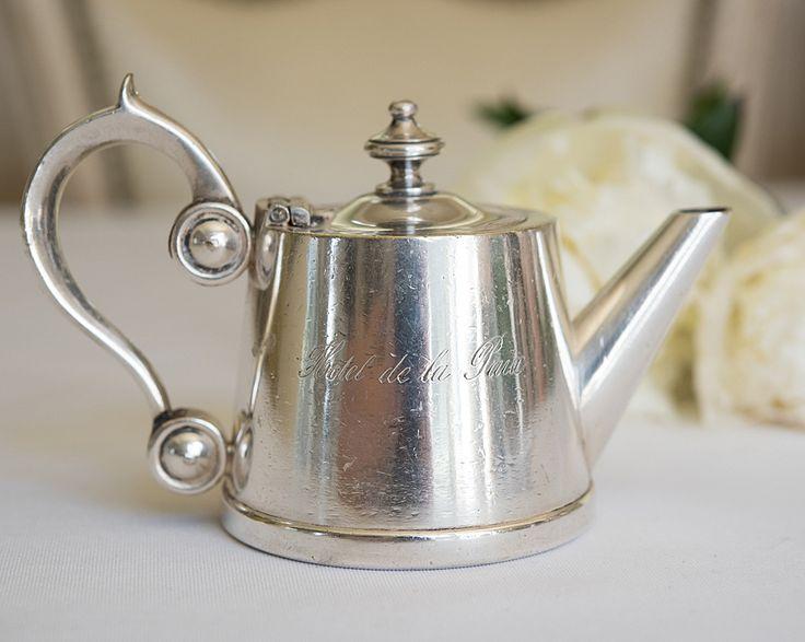 Antique Hotel de la Paix, France Teapot w/ Strainer