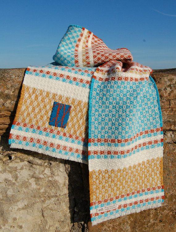 Womens handwoven scarf. 'St Monans'. Wool & by JuliaComplin, £115.00