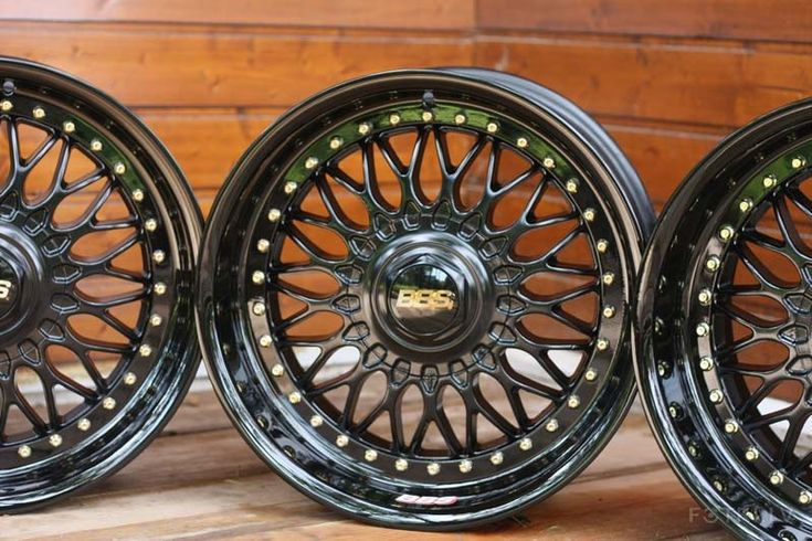 Bbs Rc 090 Bmw Style 5 Black With Gold Logos Amp Gold Bols