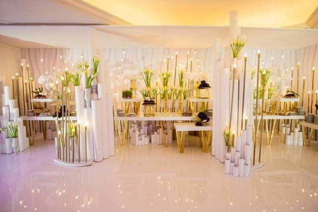 Роскошная свадьба в белом цвете