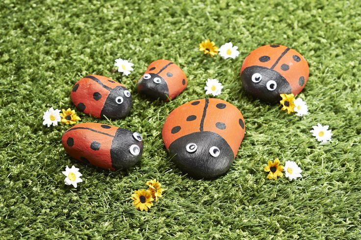 How to Make Ladybird Pet Rocks #ladybird #rockpets
