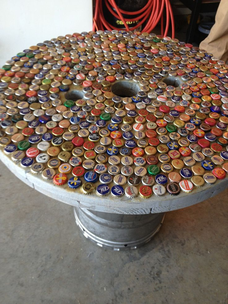 DIY Beer Tab Table With Keg Stand