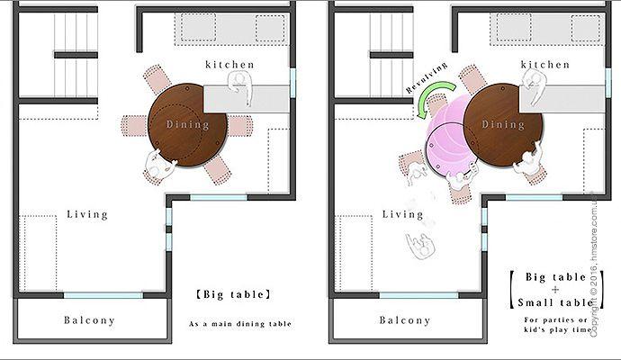 🌄 Стол, разработанный специально для маленькой квартиры   Когда архитектора Yuki Miyamoto попросили создать дизайн маленькой квартиры в Токио для семьи с маленькими детьми, оказалось, что для большого обеденного стола практически нет места. Решением было создать стол, который бы расширялся при необходимости и складывался, когда его не используют.  📖 Читать подробнее: http://hmstore.com.ua/blog/idei-dlya-doma/stol--razrabotannyiy-spetsialno-dlya-malenkoy-kvartiryi  #идеи_для_дома…