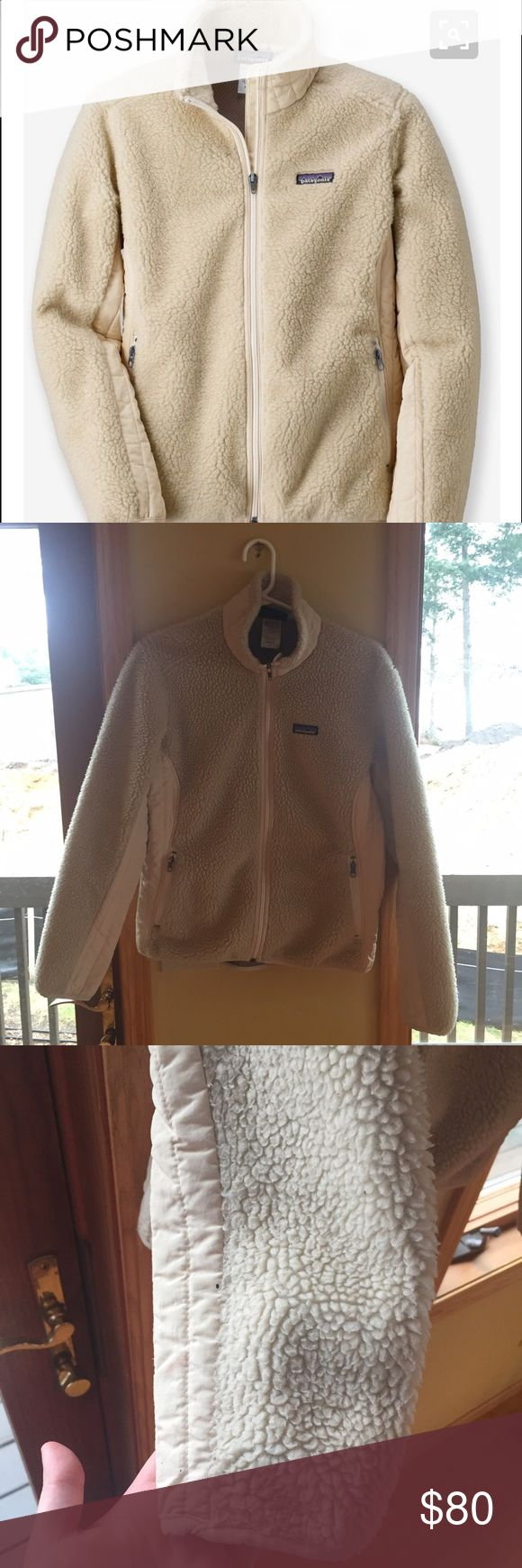 Large Patagonia jacket retro x cream Women's jacket. In good used condition Patagonia Jackets & Coats