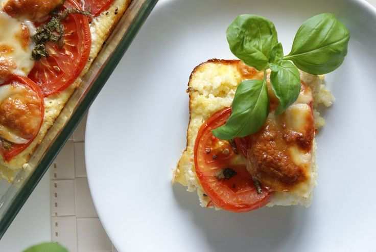 Zapečené jáhly s rajčaty a mozzarelou