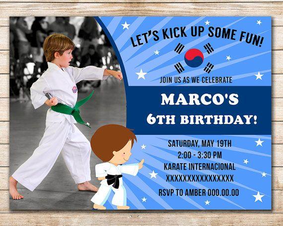 80% OFF SALE Karate Taekwondo Digital Printable by Funparty2015