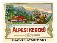 Old Vintage Hungarian Liquor Label, Altvater, ig6160