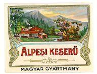 Old Vintage Hungarian Liquor Label, Altvater, ig6160