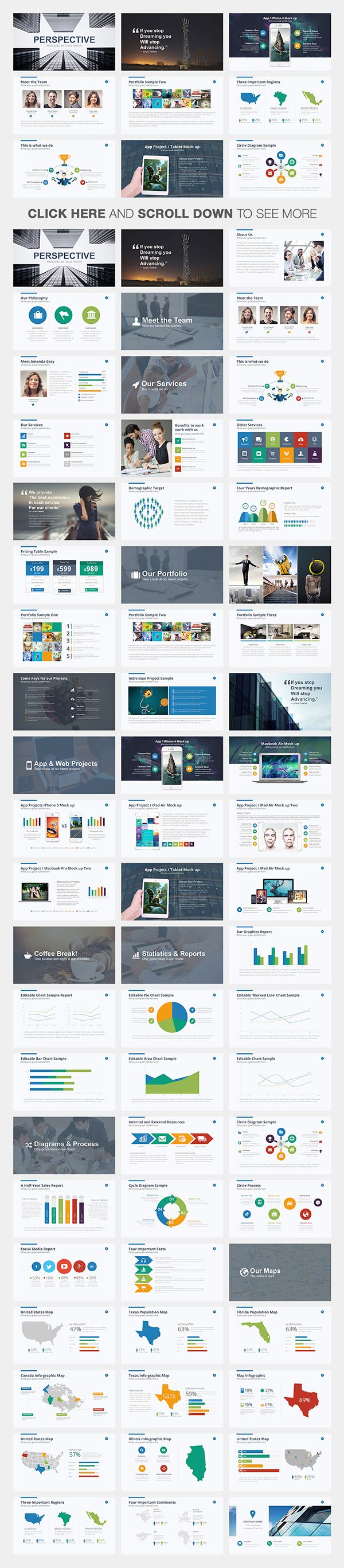 Perspective Powerpoint Template on Behance