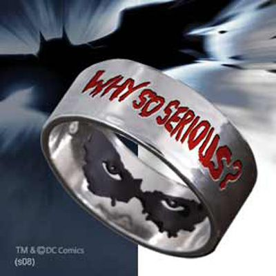 Batman The Dark Knight Joker - Why So Serious - Ring Sizes 6 - 14