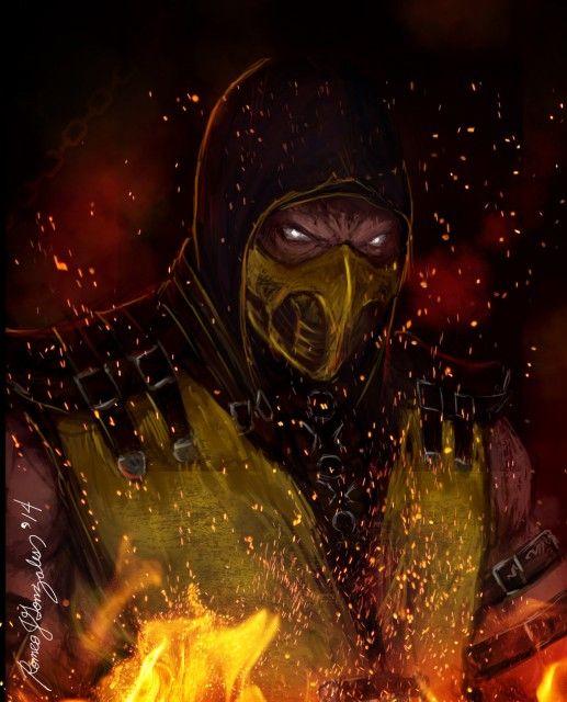video Games Face Mortal Kombat X Scorpion character